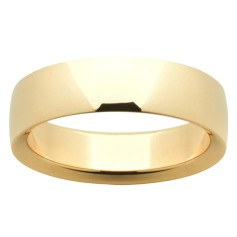 Mens Gold Rings Plain classic low dome band