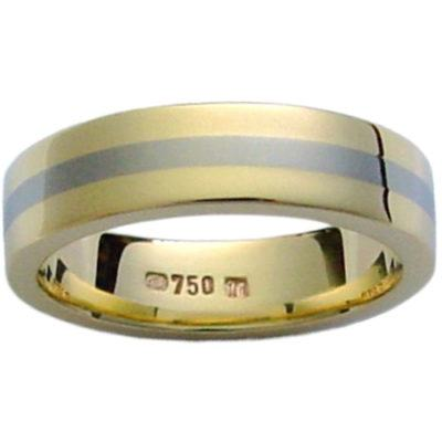 titanium-rings, mens-wedding-rings, gold-rings, all-mens-rings - 18k Gold Titanium Band